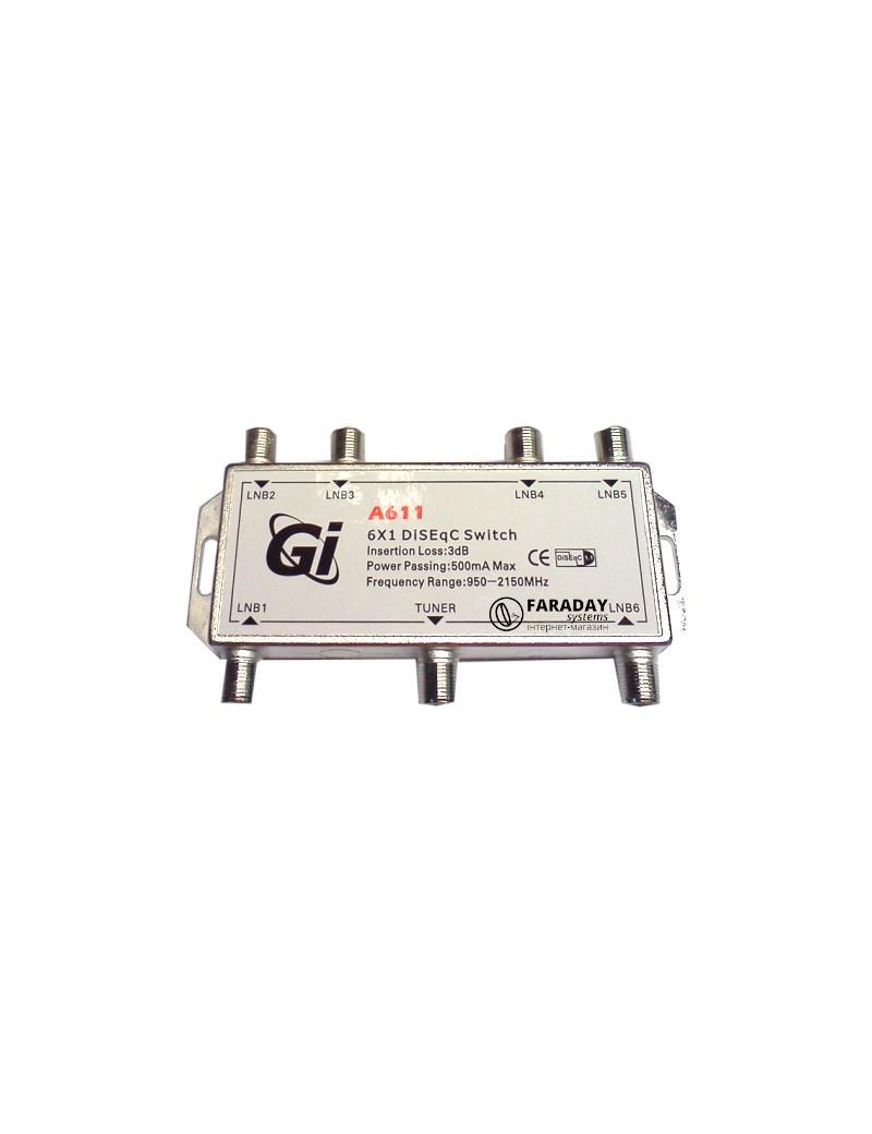 Gi 6x1 DiSEqC Switch A611