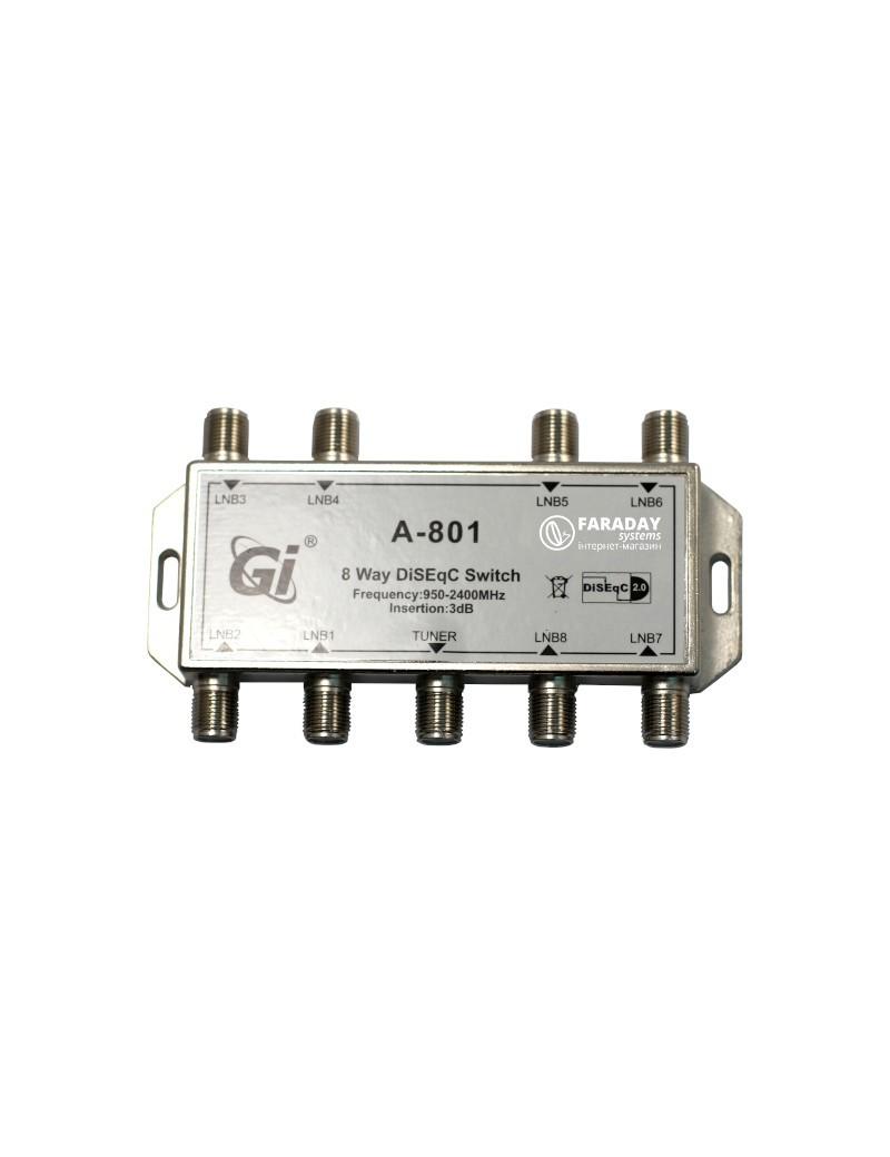 Gi 8x1 DiSEqC Switch A801
