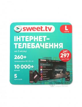 Интернет-телевидение SWEET.TV пакет L на 3 мес.