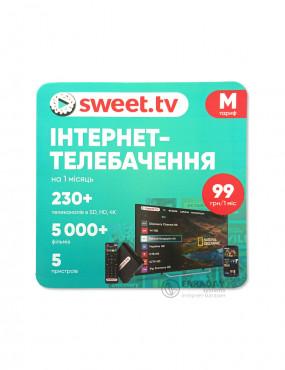 Интернет-телевидение SWEET.TV пакет M на 1 мес.
