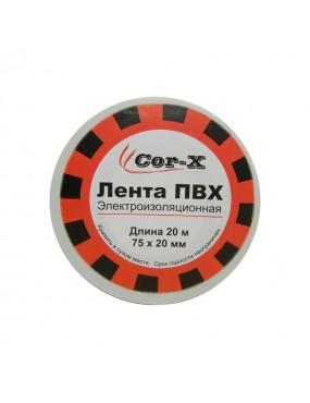 Лента электроизоляционная Cor-X 75x20 белая ПВХ